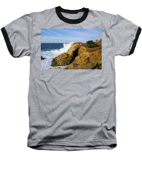 Baseball T-Shirt featuring the photograph Sea Cave Big Sur by Floyd Snyder