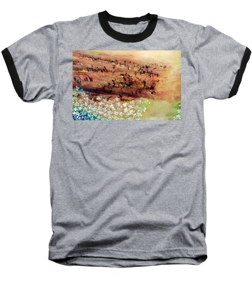 Baseball T-Shirt featuring the painting Sea Earth  by Winsome Gunning