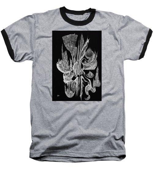 Sea Filigree Baseball T-Shirt by Charles Cater