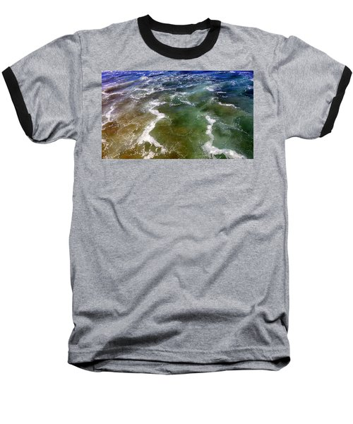 Artistic Ocean Photo Baseball T-Shirt