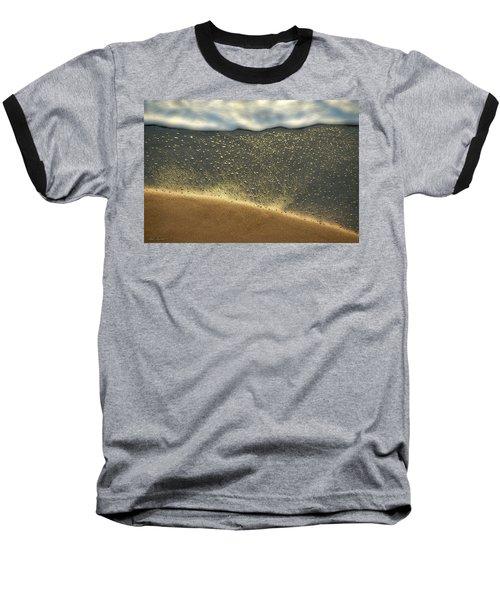 Sea Foam #2 Baseball T-Shirt by Glenn Gemmell