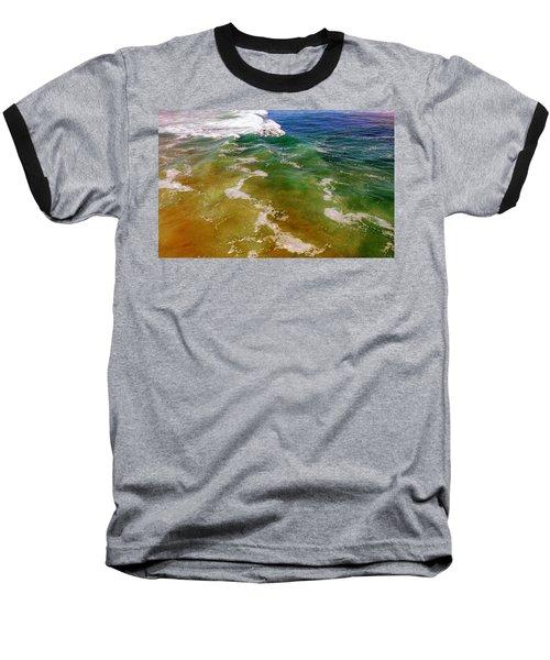 Colorful Ocean Photo Baseball T-Shirt