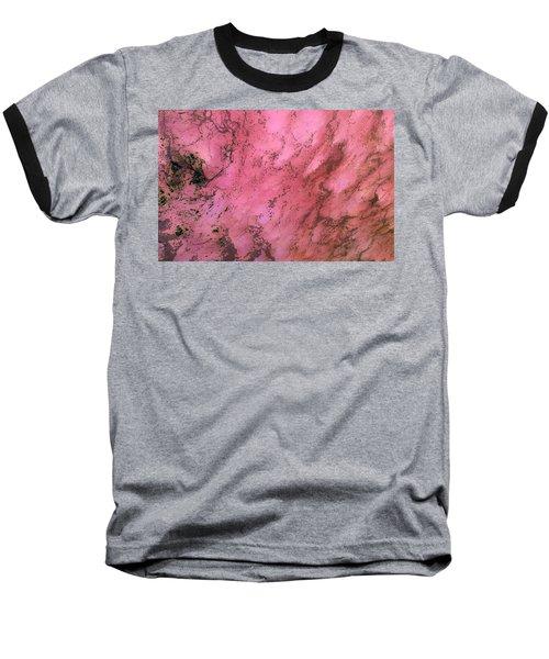 Sea Foam In Pink Baseball T-Shirt