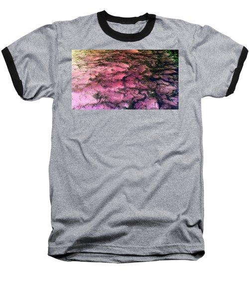 Sea Foam Pinkish Black Baseball T-Shirt