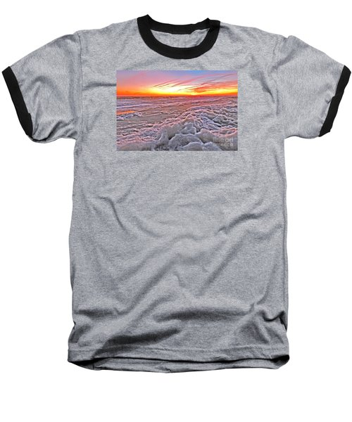 Sea Foam Sunset Baseball T-Shirt