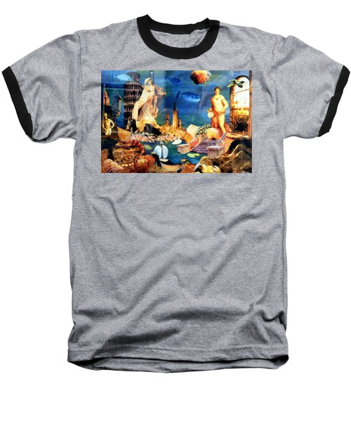 Baseball T-Shirt featuring the painting Sea Garden by Gail Kirtz