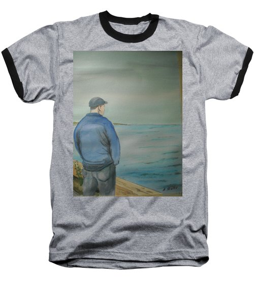 Sea Gaze Baseball T-Shirt by Anthony Ross