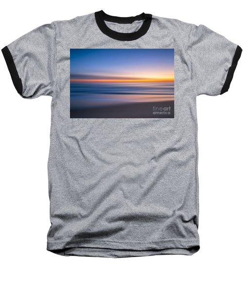 Sea Girt New Jersey Abstract Seascape Sunrise Baseball T-Shirt