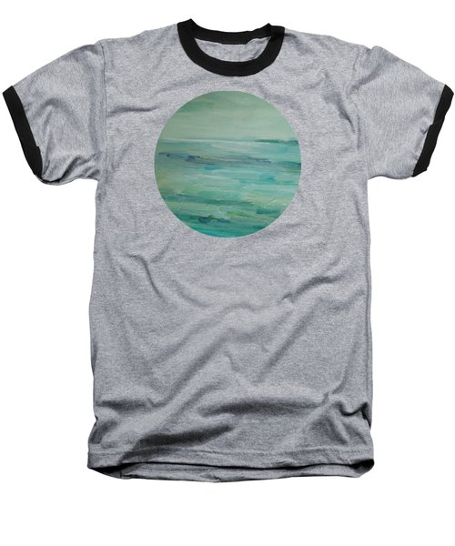 Baseball T-Shirt featuring the painting Sea Glass by Mary Wolf