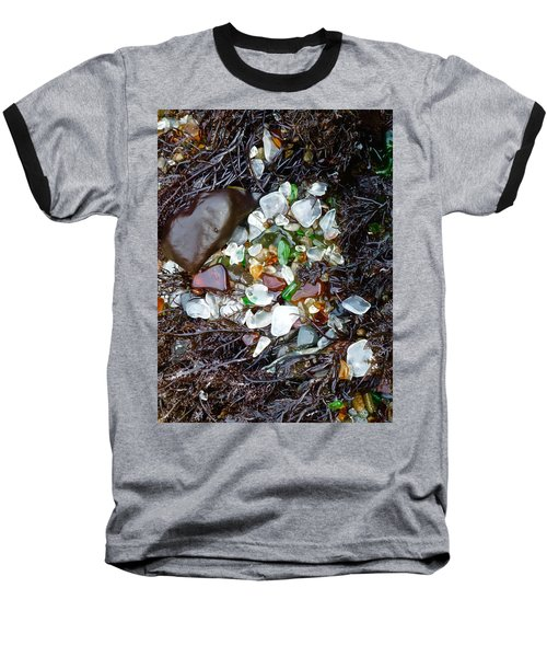 Sea Glass Nest Baseball T-Shirt by Amelia Racca