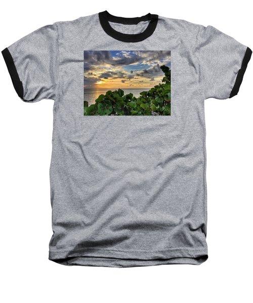 Sea Grape Sunrise Baseball T-Shirt