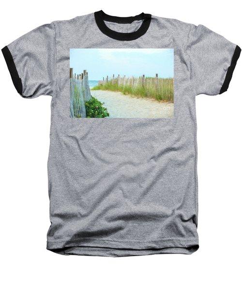 Sea Gull Beach #1 Baseball T-Shirt