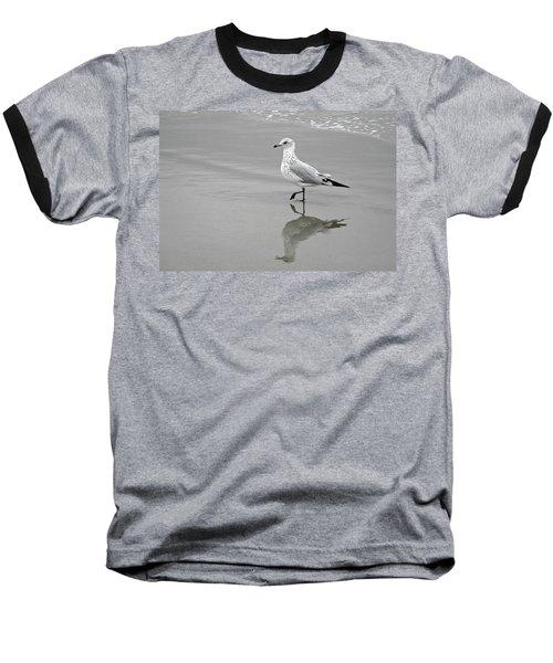 Sea Gull Walking In Surf Baseball T-Shirt