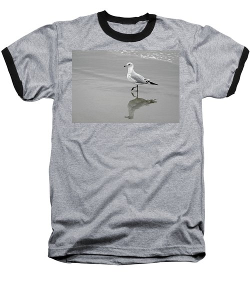 Sea Gull Walking In Surf Baseball T-Shirt