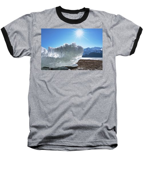 Sea Ice Glowing With The Sun Baseball T-Shirt