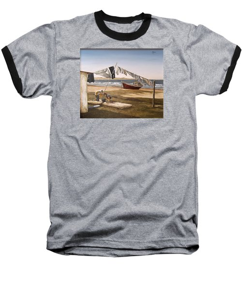 Baseball T-Shirt featuring the painting Sea Kids by Natalia Tejera