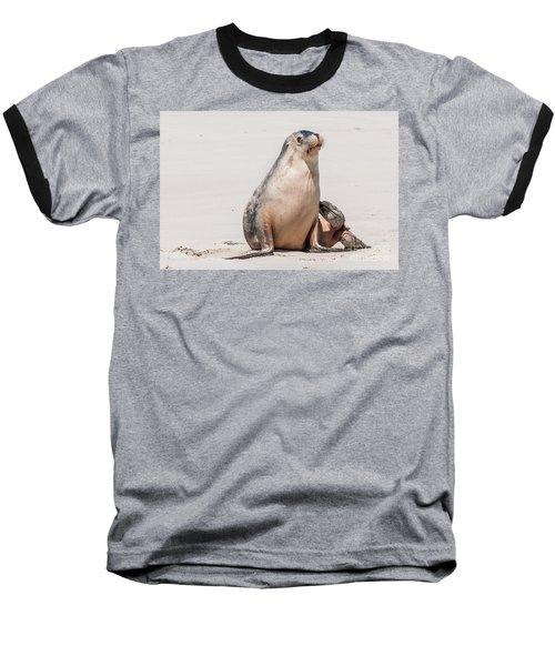Sea Lion 1 Baseball T-Shirt by Werner Padarin