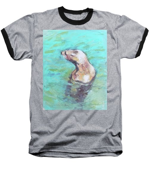 Sea Lion Baseball T-Shirt by Yoshiko Mishina