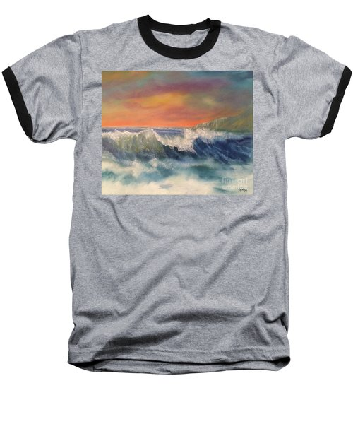 Baseball T-Shirt featuring the painting Sea Mist by Denise Tomasura
