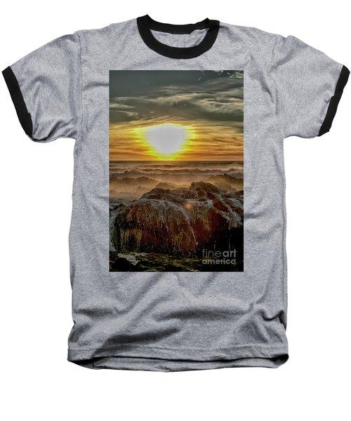 Sea Mist Sunset Baseball T-Shirt