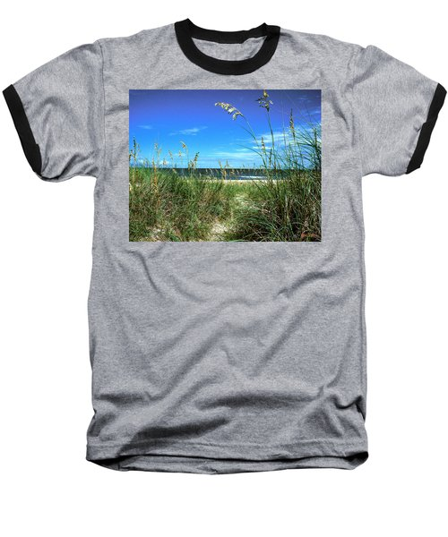 Baseball T-Shirt featuring the photograph Sea Oat Dunes 11d by Gerry Gantt