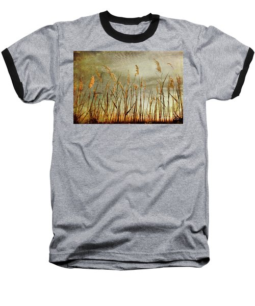 Baseball T-Shirt featuring the photograph Sea Oats And Sky On Outer Banks Fx by Dan Carmichael