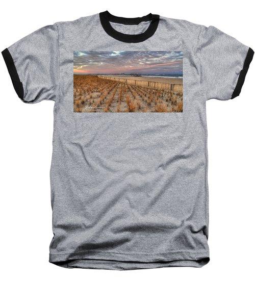 Sea Oats Baseball T-Shirt by John Loreaux