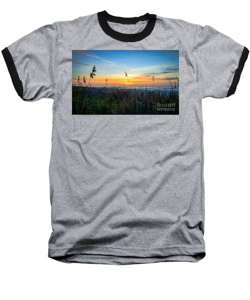 Sea Oats Sunrise Baseball T-Shirt