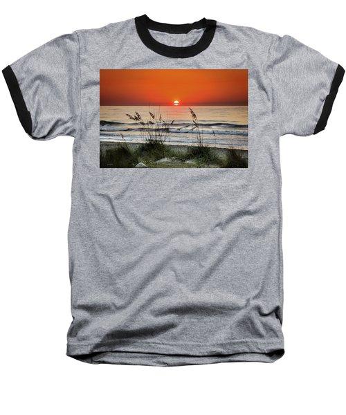 Sea Oats Sunrise Baseball T-Shirt by Phil Mancuso