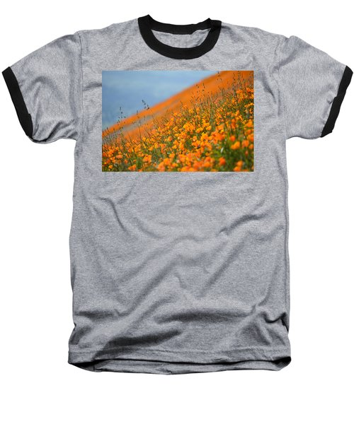 Sea Of Poppies Baseball T-Shirt by Kyle Hanson