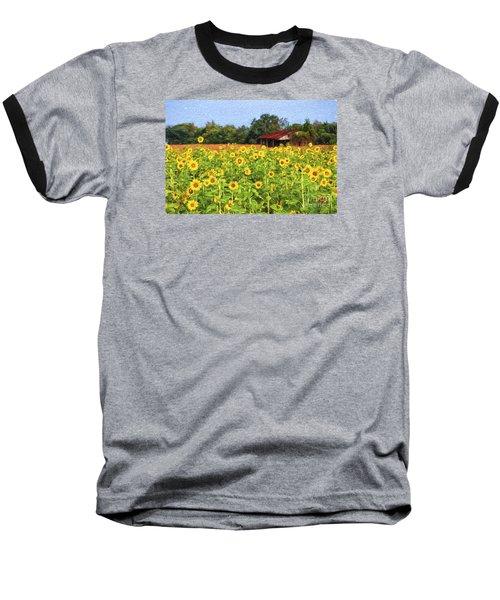 Sea Of Sunflowers Baseball T-Shirt