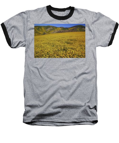 Baseball T-Shirt featuring the photograph Sea Of Yellow Up In The Temblor Range At Carrizo Plain National Monument by Jetson Nguyen