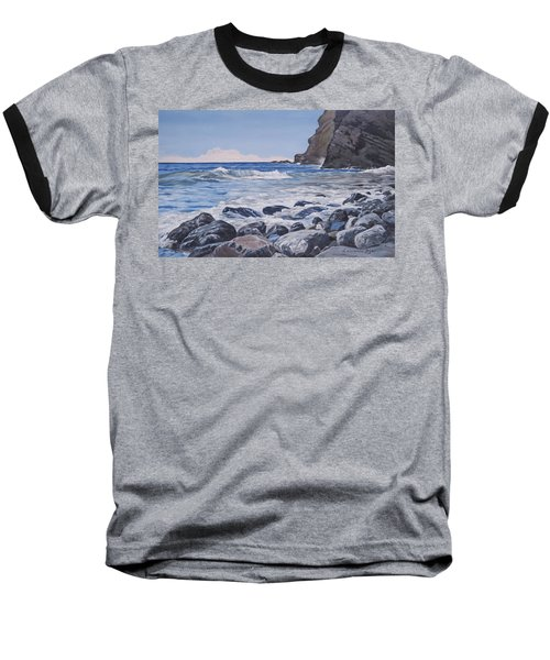 Sea Pounded Stones At Crackington Haven Baseball T-Shirt