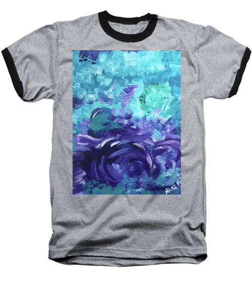Sea Purple Baseball T-Shirt