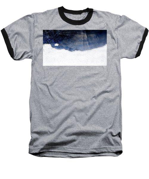 Sea, Satellite - Coast Line On Blue Ocean Illusion Baseball T-Shirt
