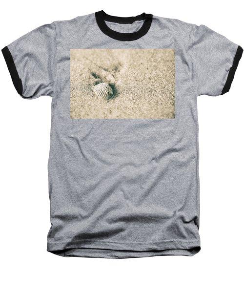 Baseball T-Shirt featuring the photograph Sea Shell On Beach  by John McGraw