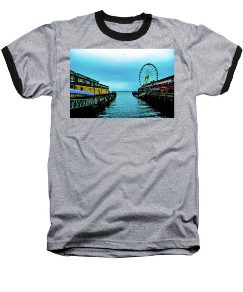 Sea Side, Seattle 2 Baseball T-Shirt