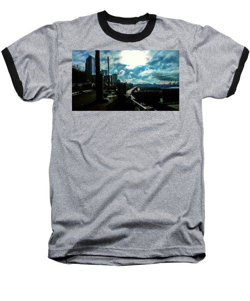 Sea Side, Seattle  Baseball T-Shirt