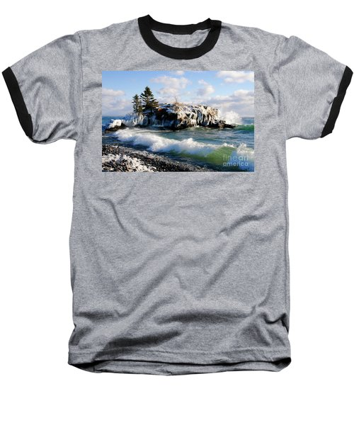 Sea Smoke At Hollow Rock Baseball T-Shirt