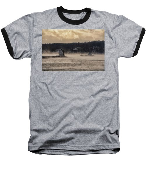 Sea Smoke At Rockland Breakwater Light Baseball T-Shirt