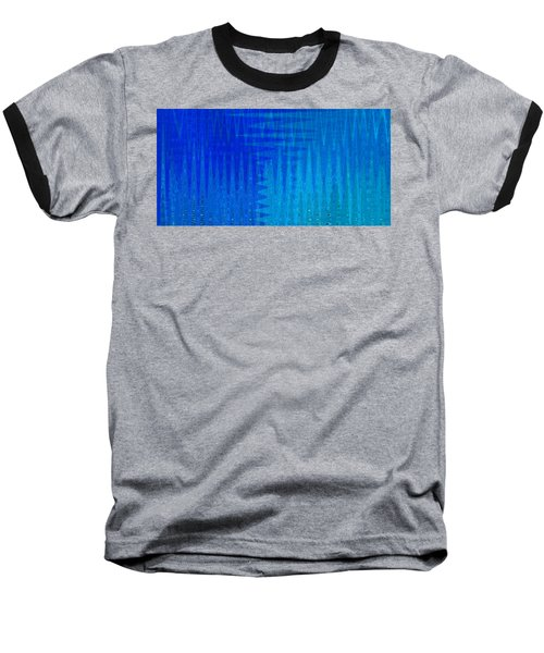 Sea Song Blue On Blue Baseball T-Shirt
