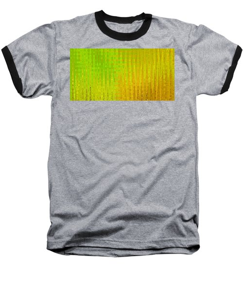 Sea Song Green And Gold Baseball T-Shirt by Stephanie Grant