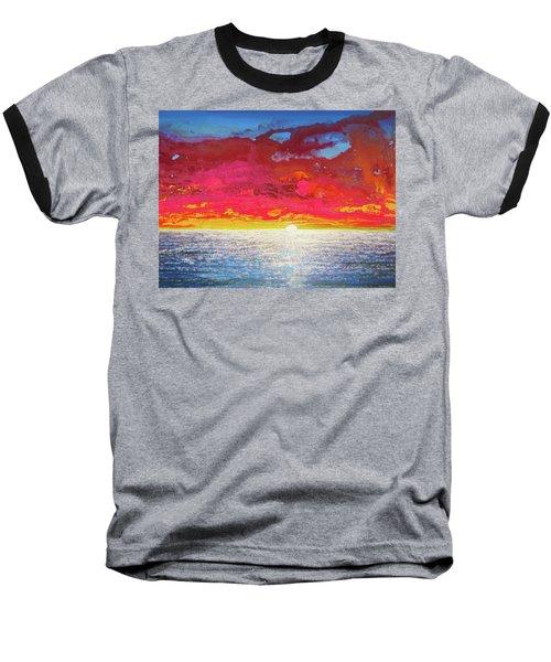 Baseball T-Shirt featuring the painting Sea Splendor by Mary Ellen Frazee
