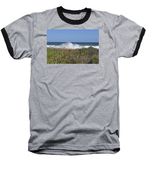 Baseball T-Shirt featuring the photograph Sea Spray by Linda Ferreira
