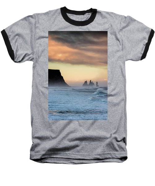 Sea Stacks Baseball T-Shirt by Allen Biedrzycki