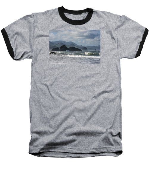 Sea Stacks And Surf Baseball T-Shirt