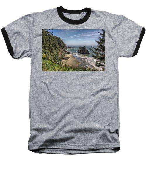 Sea Stacks And Wildflowers Baseball T-Shirt