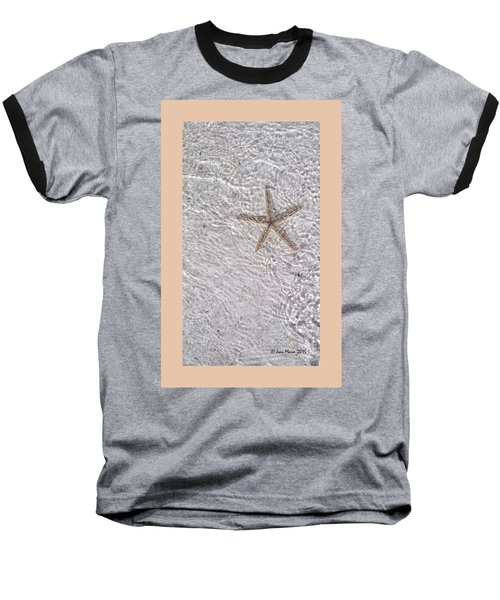Sea Star 11 Anna Maria Island Baseball T-Shirt by Jean Marie Maggi