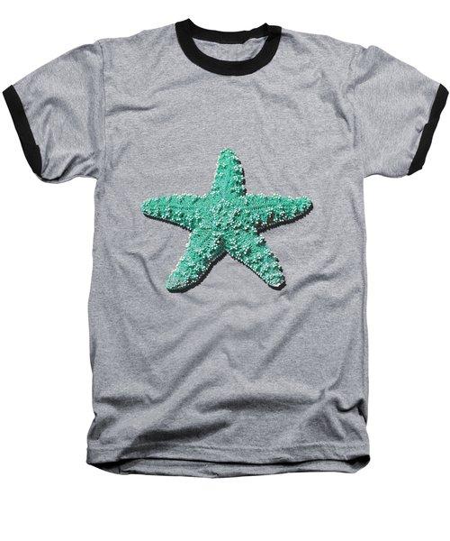 Sea Star Aqua .png Baseball T-Shirt