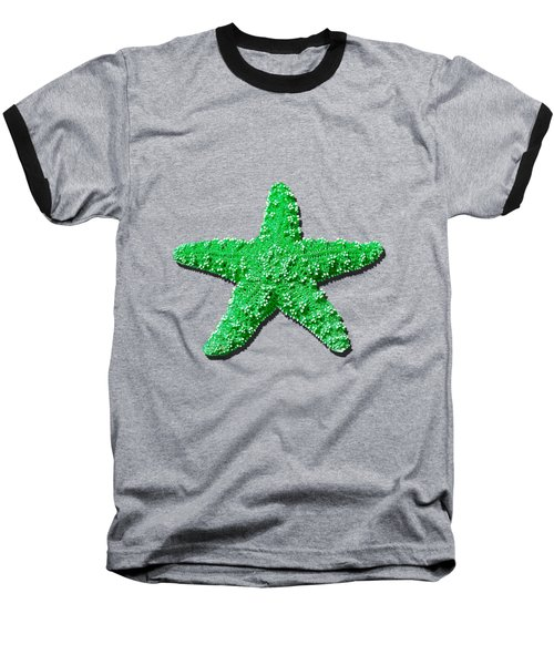 Sea Star Green .png Baseball T-Shirt by Al Powell Photography USA